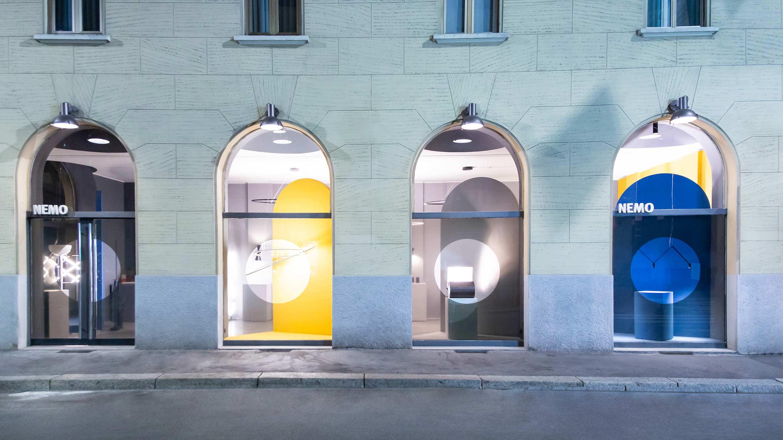 La boutique Nemo, Corso Monforte revue par le designer Charles Kalpakian.