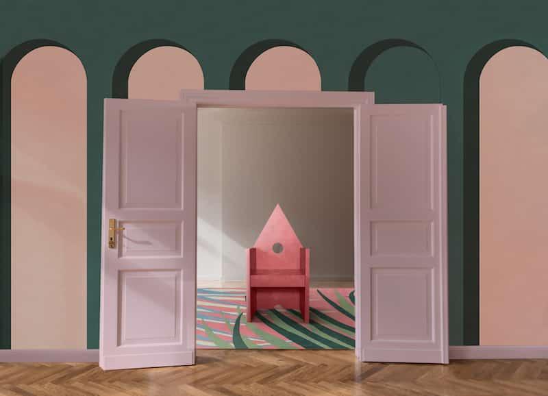 Installation Stranger pinks par le distributeur Artemest.