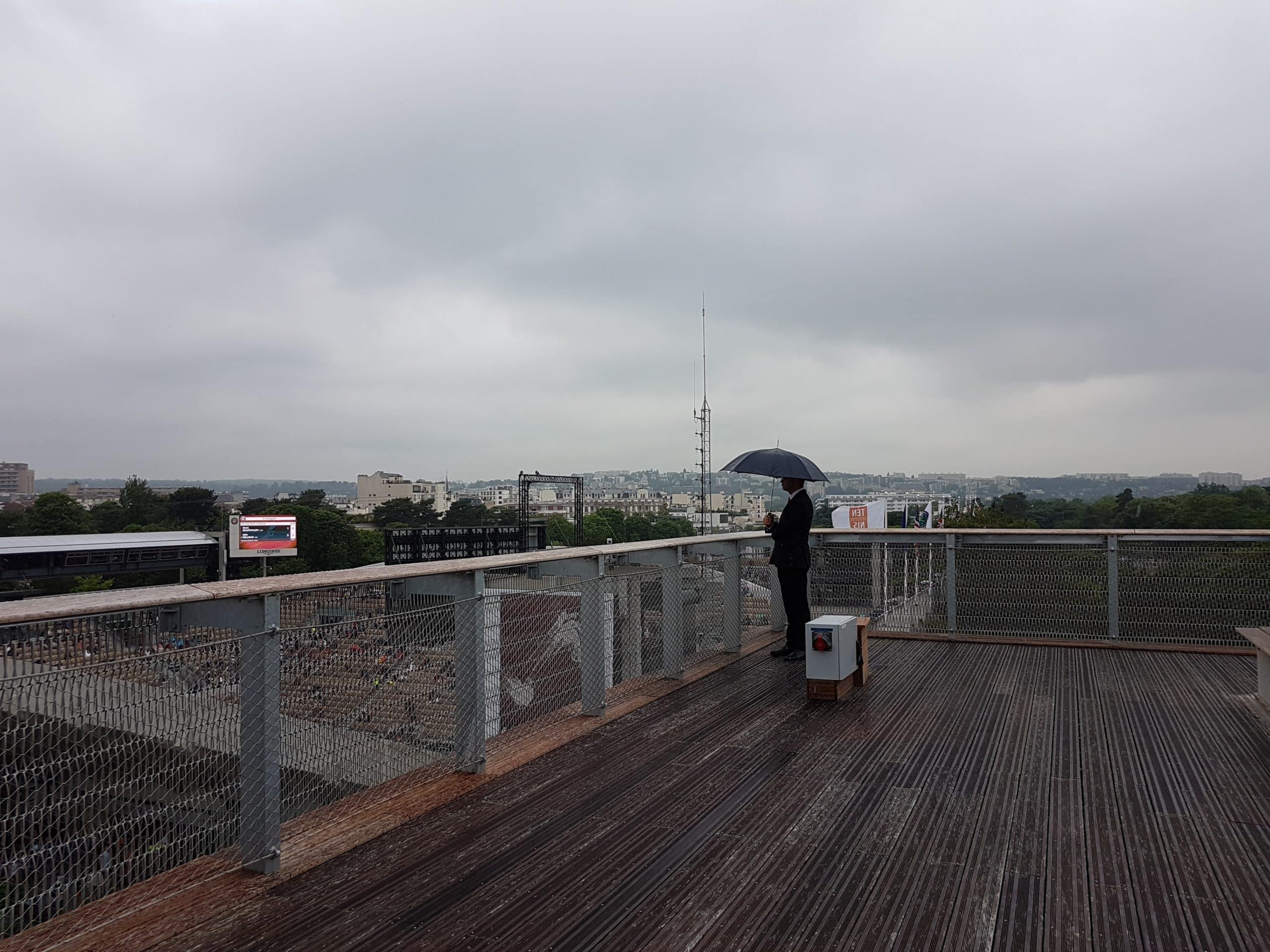 Sur le toit du Village de Roland-Garros.