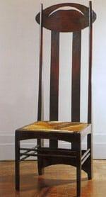 1897 La chaise Mackintosh